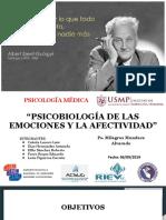 Psicobiología de Las Emociones y La Afectividad