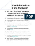 Proven Health Benefits of Turmeric and Curcumin