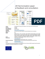 ProSUM Harmonisation Paper for External Feedback and Consultation
