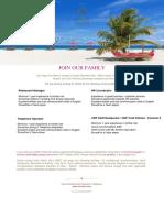 Job Posting _ Sun Aqua Vilu Reef 28 09 2019