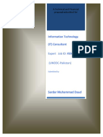 Sardar Daud Information Technology (IT) Consultant - Punjab Technical and Financial Proposal