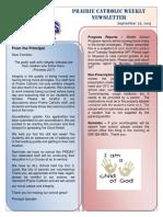 Newsletter 09 26 2019