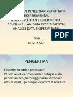 Rancangan Penelitian Kuantitatif (Eksperimental)