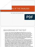 Customs of the Tagalogs Final Edit