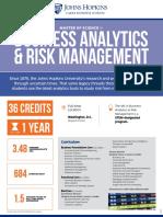 Ms Business Analytics Risk Management Fact Sheet