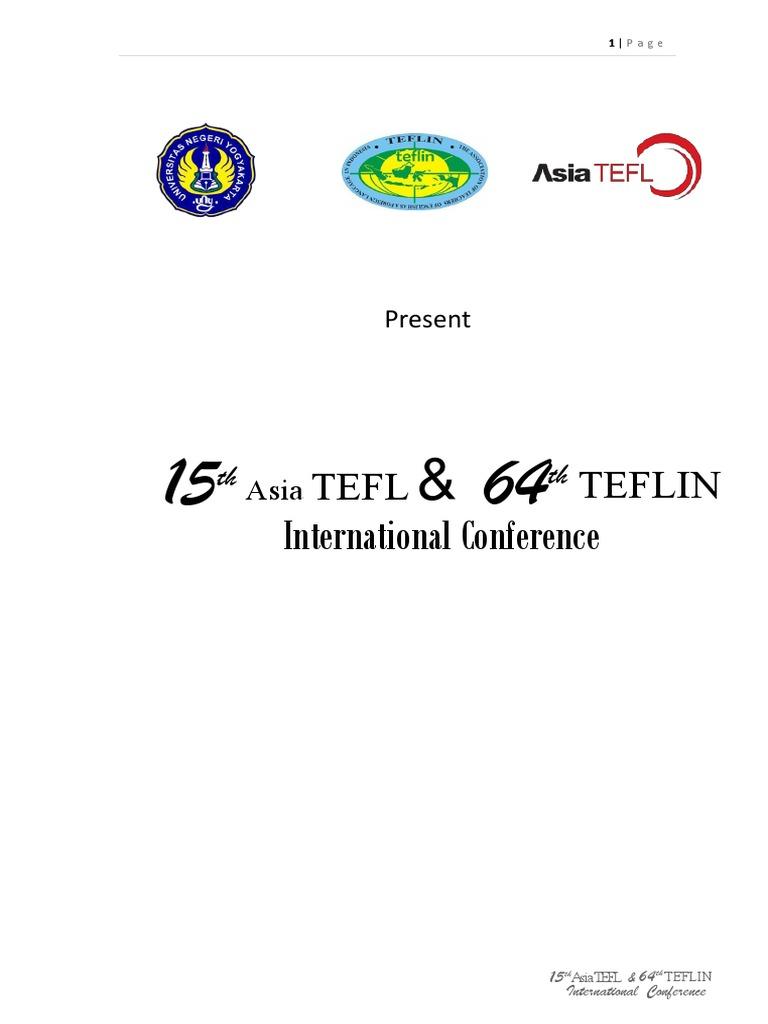 Asiatefl Program Book 23 Agustus New Pdf Indonesia Learning
