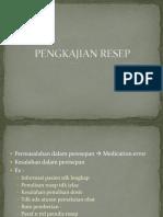 pengkajian resep