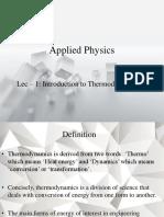 Intro to Thermodynamics