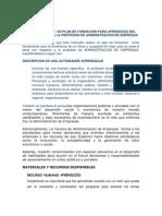 Plan de Formacion Enfocado a La Admin is Trac Ion de Empresas