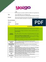 Yoigo LTE ENodeB Golden Parameter List Y1