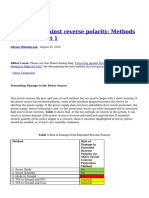 Protecting Against Reverse Polarity Methods Examined Part 1