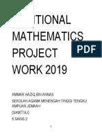 Kerja Projek Matematik Tambahan 2019