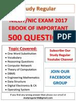 Nielit Mcq Question Bank