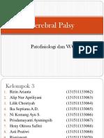 Ptofisiologi Dan WOC Cerebral Palsy