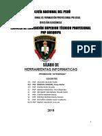 Silabus Informatica Herramientas Informaticas 2019i