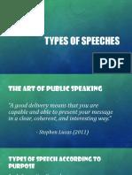Types of Speech