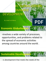 Economic Globalization and Sustainability Development
