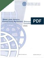 Model Joint Venture Between Consultants Agreement 2017