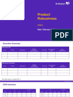 Product Robustness Template