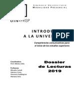 Dossieer de Lecturas 2019 - Introduccion a la Universidad - UTN-FRGP