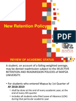 New Retention Policy