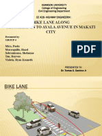 Bike Lane Along Magallanes to Ayala Avenue in Makati City