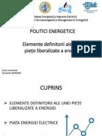 Politici Energetice-Liberalizarea Pietei Energiei