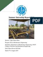 Internship Report 2019