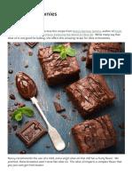 Recette Olive Oil Brownies