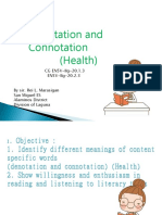 English 5 q2 Week 7 Denotation and Connotation (Health) by Sir Rei Marasigan