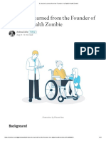 3 Lessons Learned From the Founder of a Digital Health Zombie