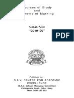Syllabus VIII 2019 20