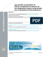 Low Energyspecific Consumption of Refrigerants for Combination of Electric Air Heater and Refrigeration System Using Double Condensers a Simulation of Thermodynamic System2019AIP Conference Proceedings
