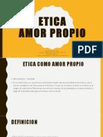 Etica Amor Propio