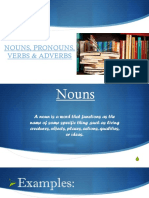 NOUNS PRONOUNS AND VERBS ADVERBS