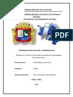 Informe Practicas pre Profesional
