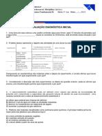 I Avaliação Diagnóstica Química ESSE