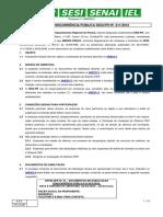 EDITAL DE CONCORRÊNCIA PÚBLICA SESI
