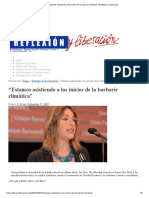 """""""Estamos Asistiendo a Los Inicios de La Barbarie Climática"""" _ Reflexión y Liberación"""