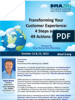 DMA 2013 Transforming Your Customer Experience