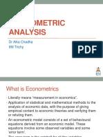 Lecture 4-Econometric Analysis