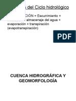 Cuenca Hidrografica y Geomorfologia