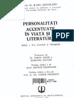 Karl Leonhard - Personalități Accentuate În Viață Și În Literatură (Ed. a-II-A)