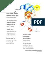 Poema Tudo Ao Contrário