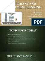 Merchant and Investment Banking