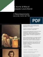 La morte di Marat Neoclassicismo
