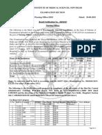 Final Result- Nursing Officer Central Hospitals-2019-NET