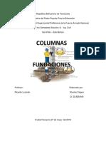 Trabajo de Concreto Columna y Fundaciones