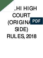 Delhi HC (Original Side) Rules, 2018.PDF