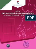 ESTUDIO TEMÁTICO DE FECUNDIDAD